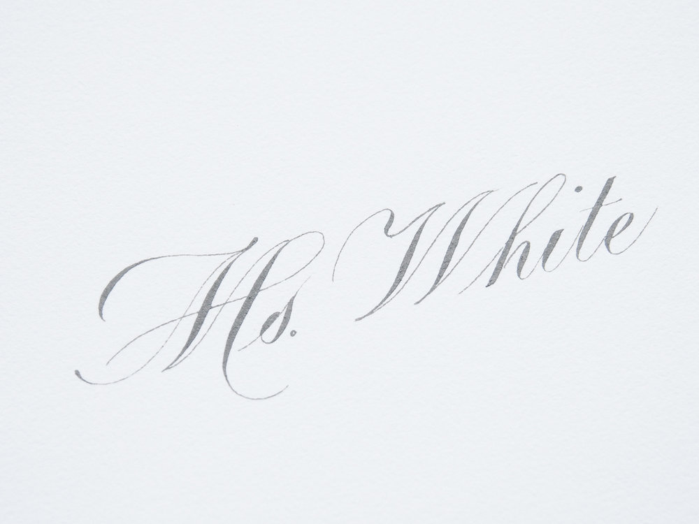 Copperplate Inner Envelope - grey ink on white