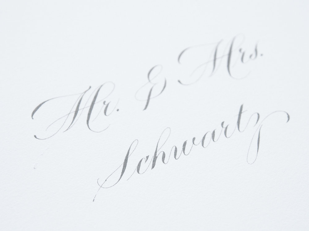 Copperplate Inner Envelope - grey ink on white