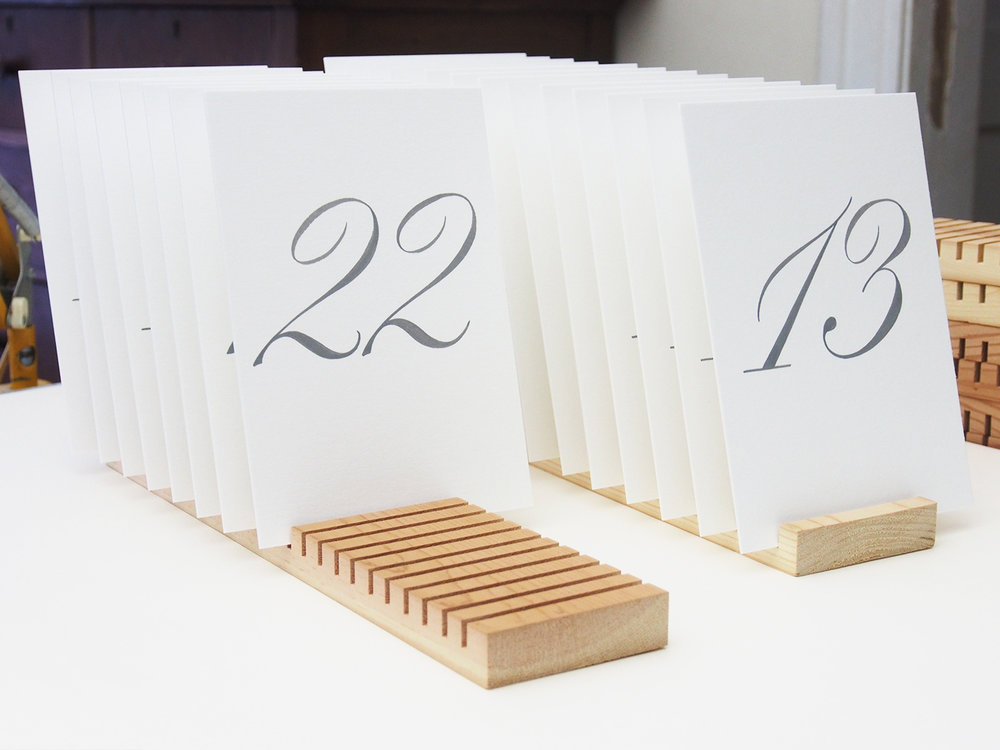 Pointed Brush Table Numbers