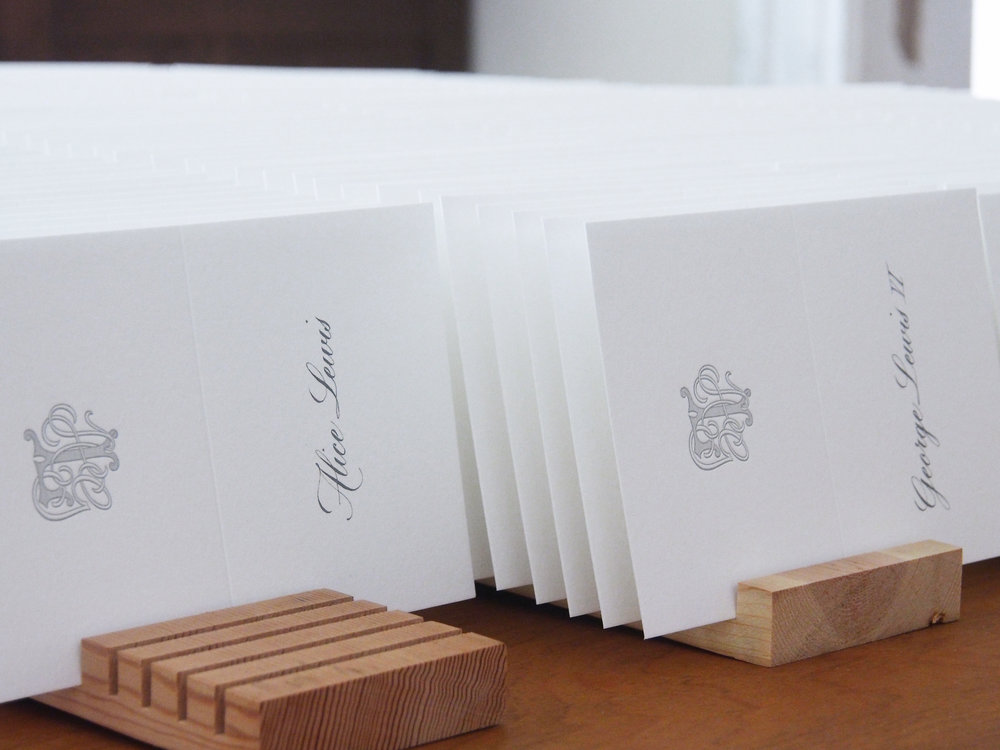 Copperplate Place Cards