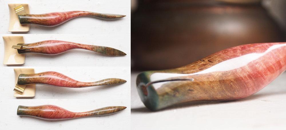 Custom Dyed Heavily Burled Maple