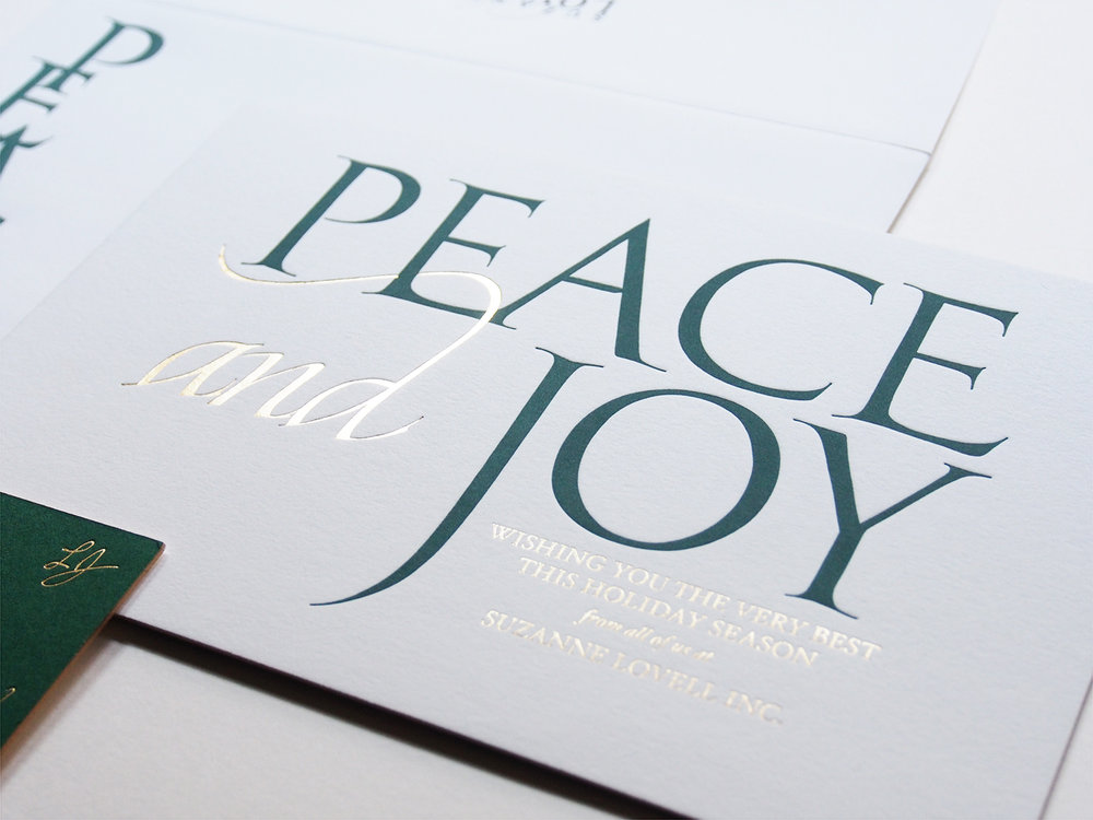 Peace and Joy Card Design