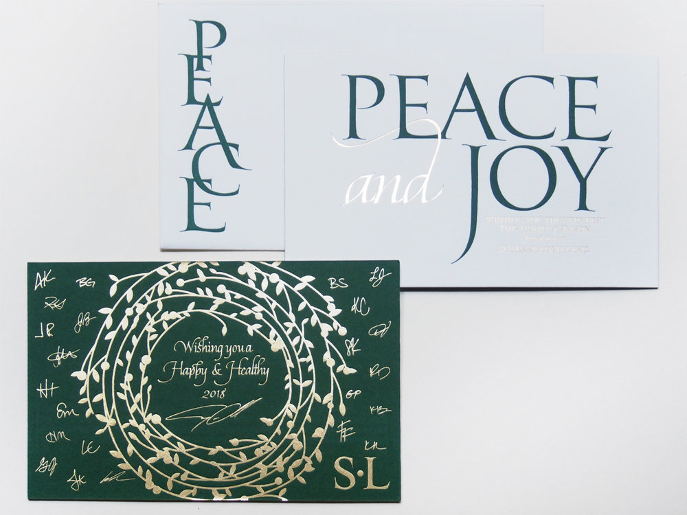 Holiday Card Suite Spot Calligraphy