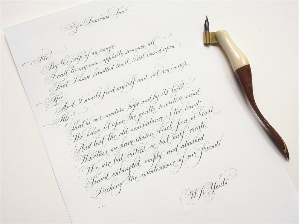 Flourished Copperplate Poem