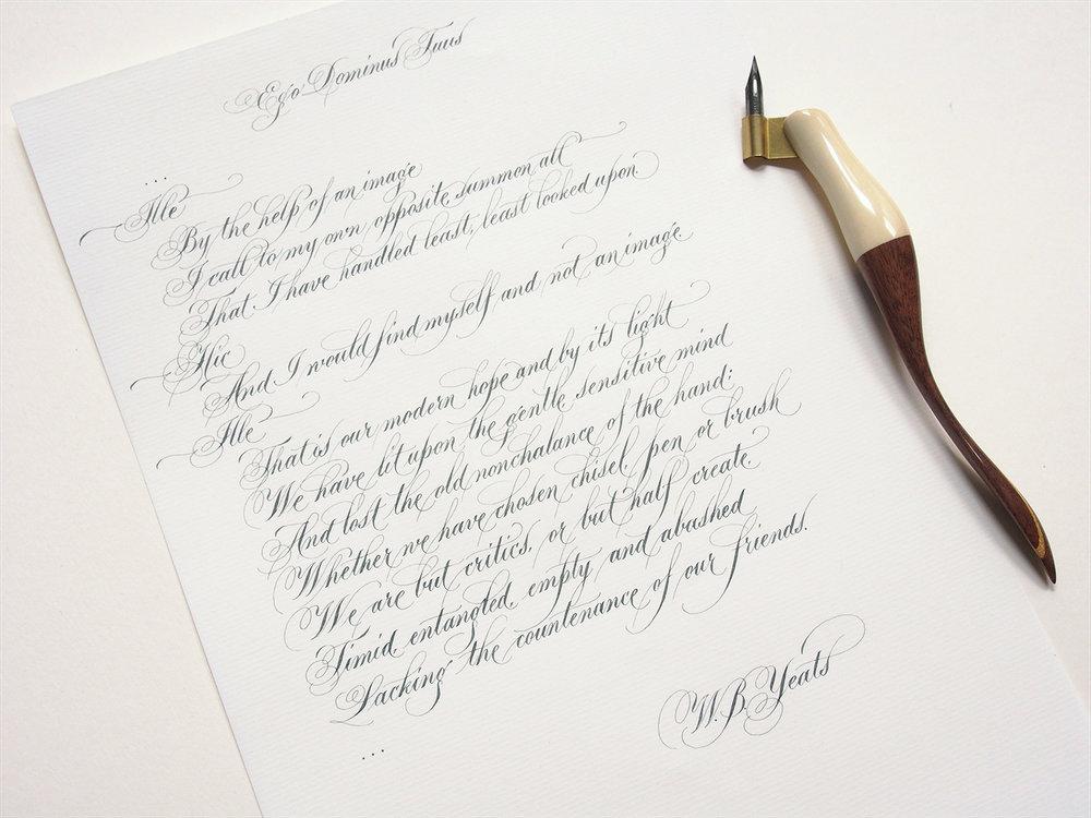 Flourished Copperplate Poem
