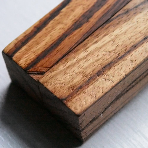 Lindsey Hook Zebra Wood Custom Ergonomic Holder