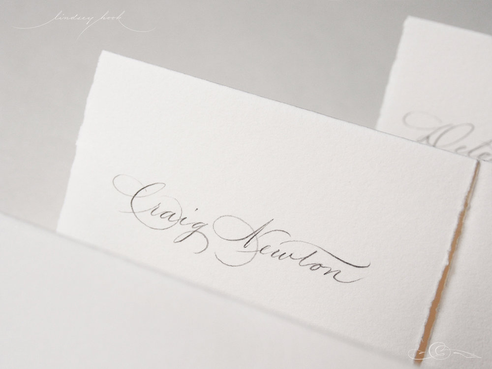 Spencerian Name Card