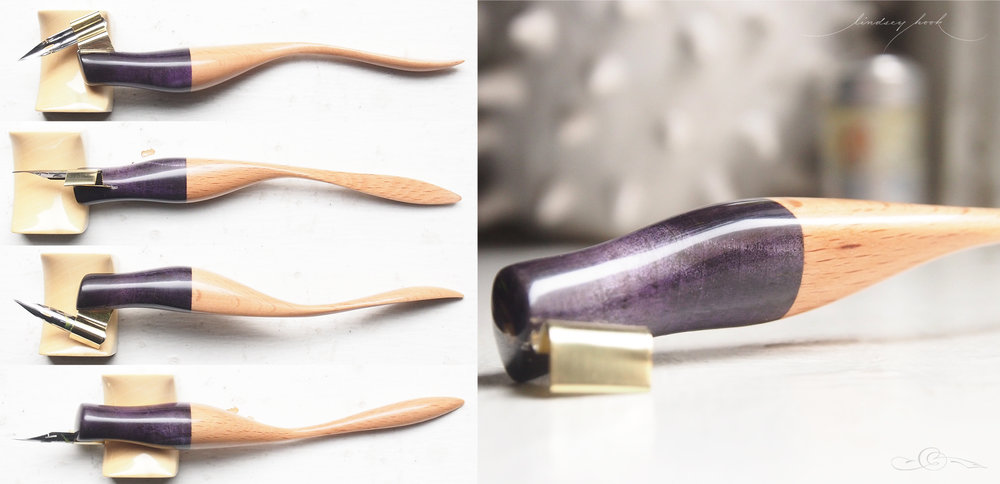 Purple Buckeye and Blonde Stock Wood