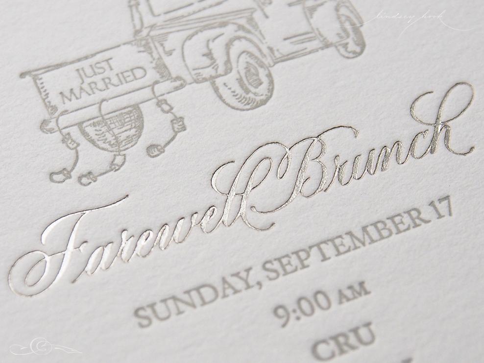 Wedding Invitation Spot Calligraphy