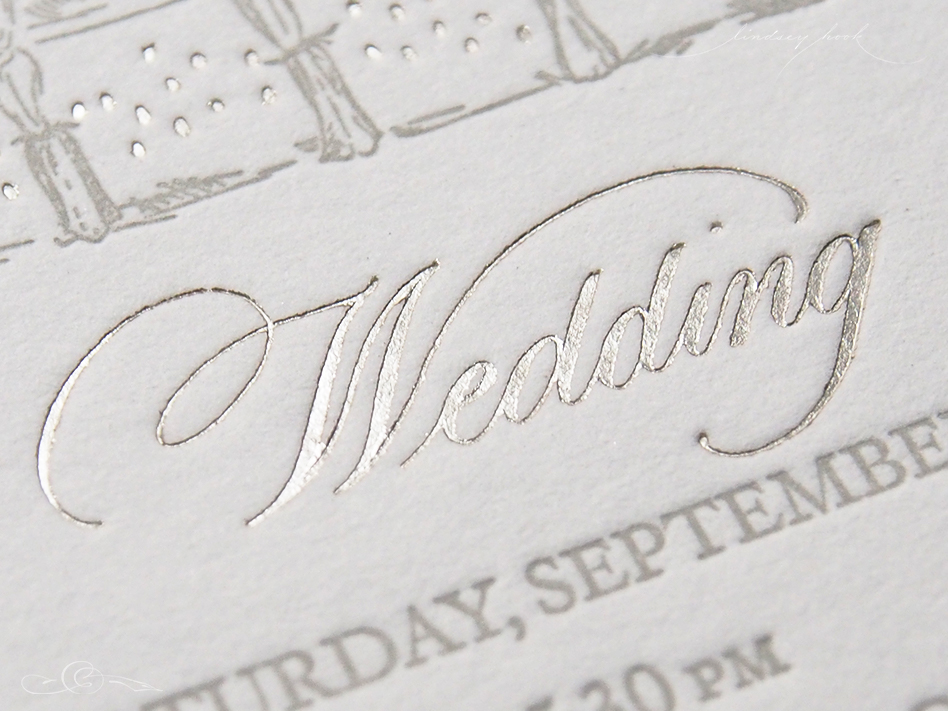 Wedding Invitation Spot Calligraphy