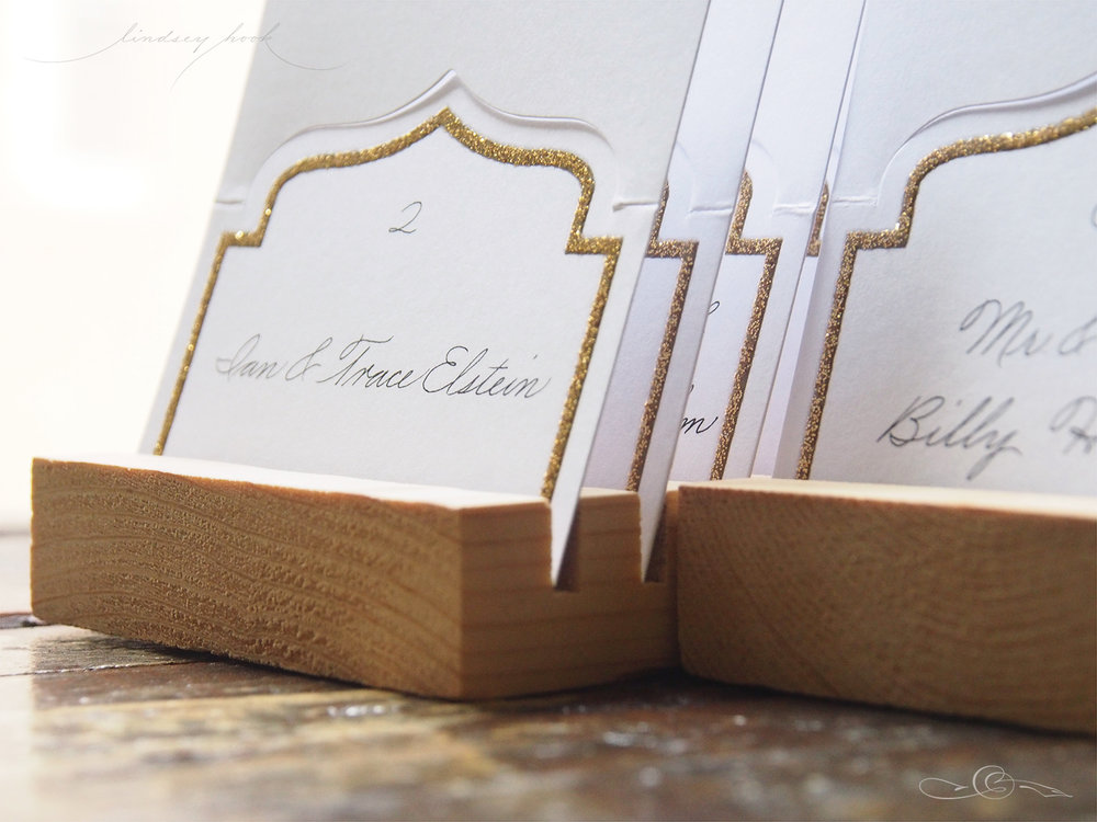 Palmer Script Escort Cards