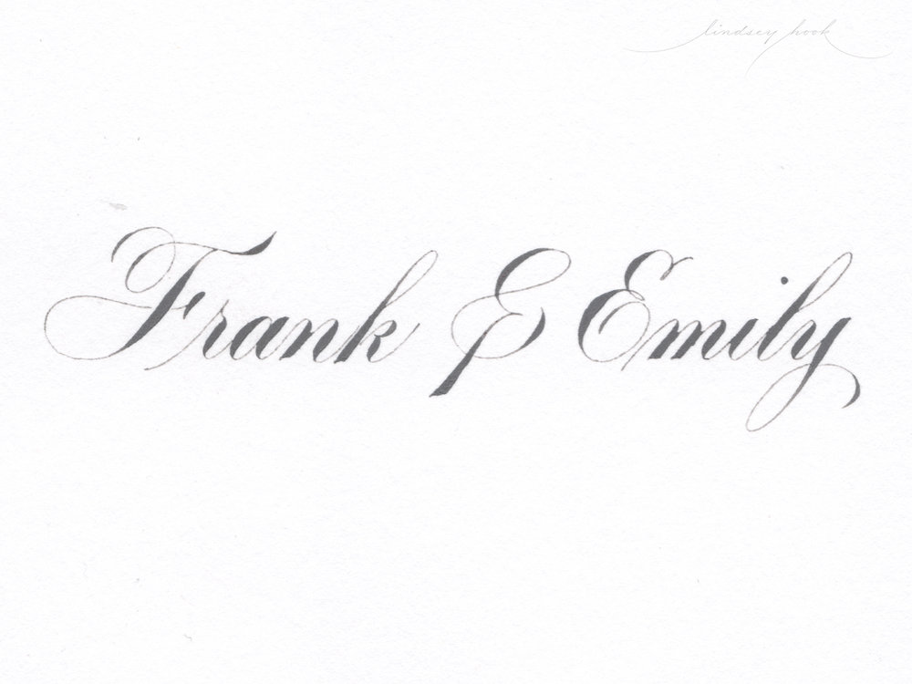 Simple Roundhand/Copperplate Script