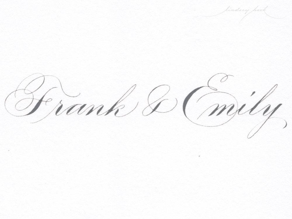 Ornamental/Shaded Spencerian Script
