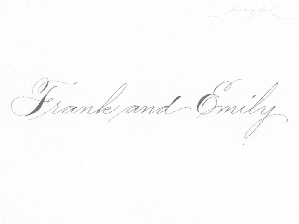 Simple Spencerian Script