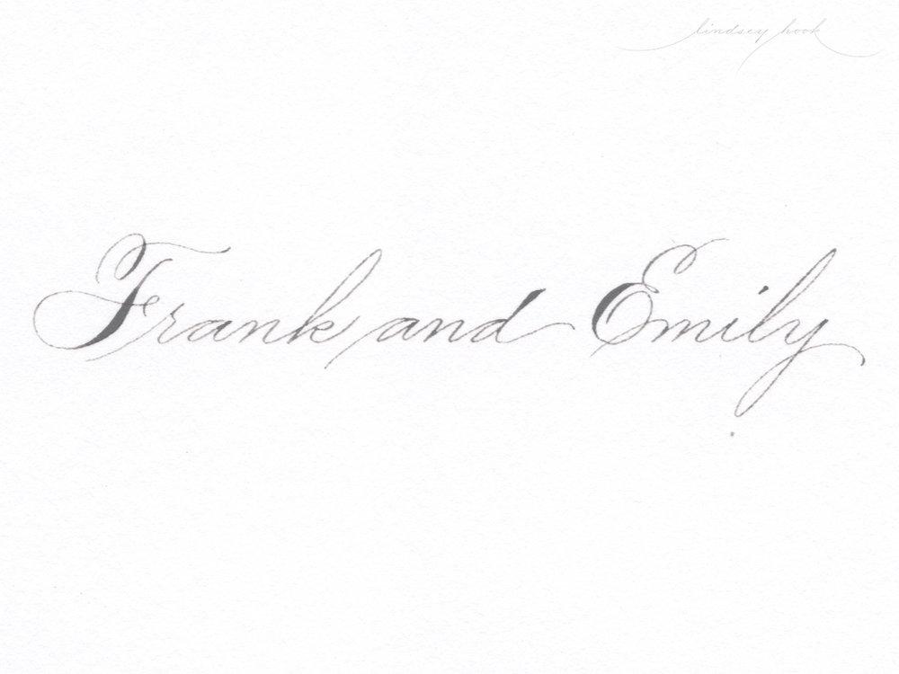 Simple Spencerian Script