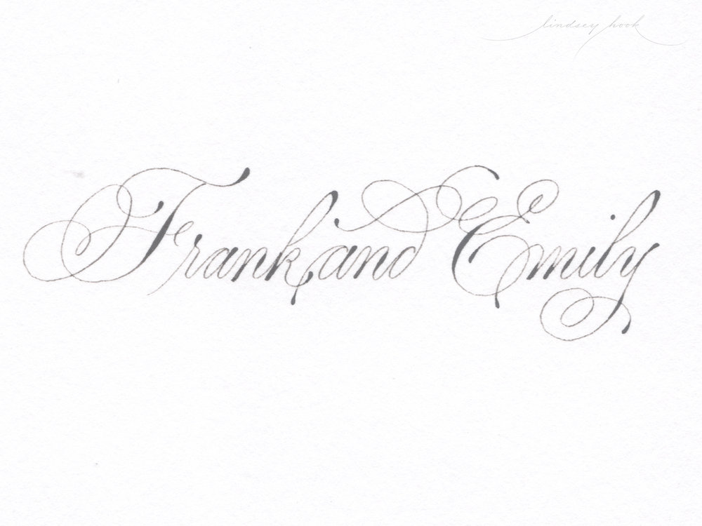 Flourished Contemporary Italian Roundhand