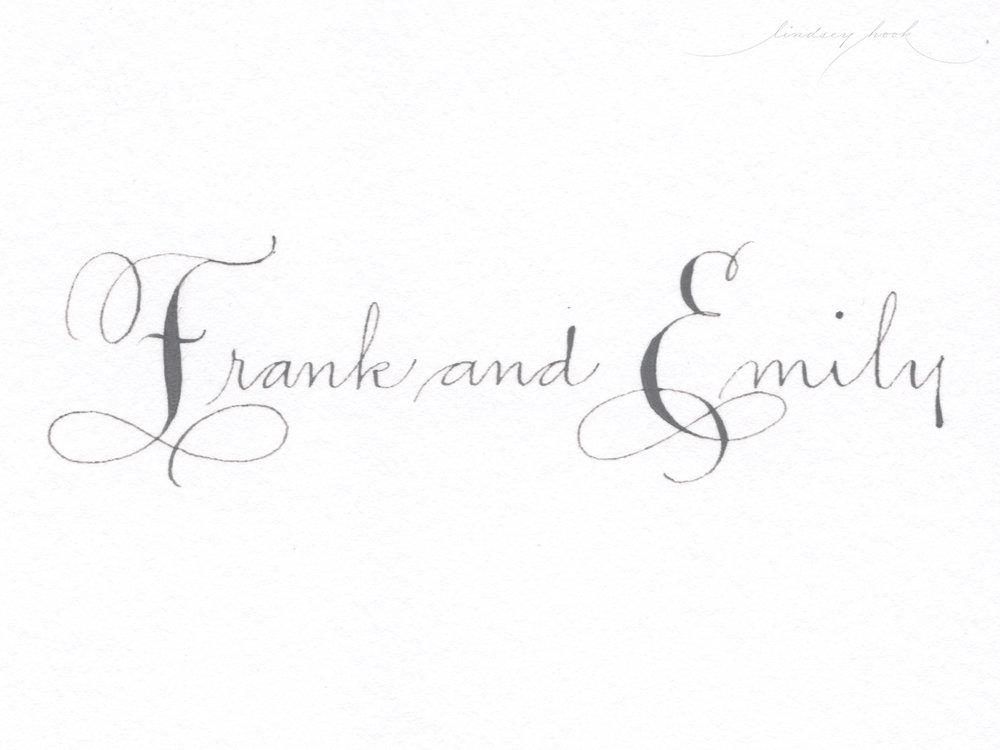 Vertical Ornamental Script