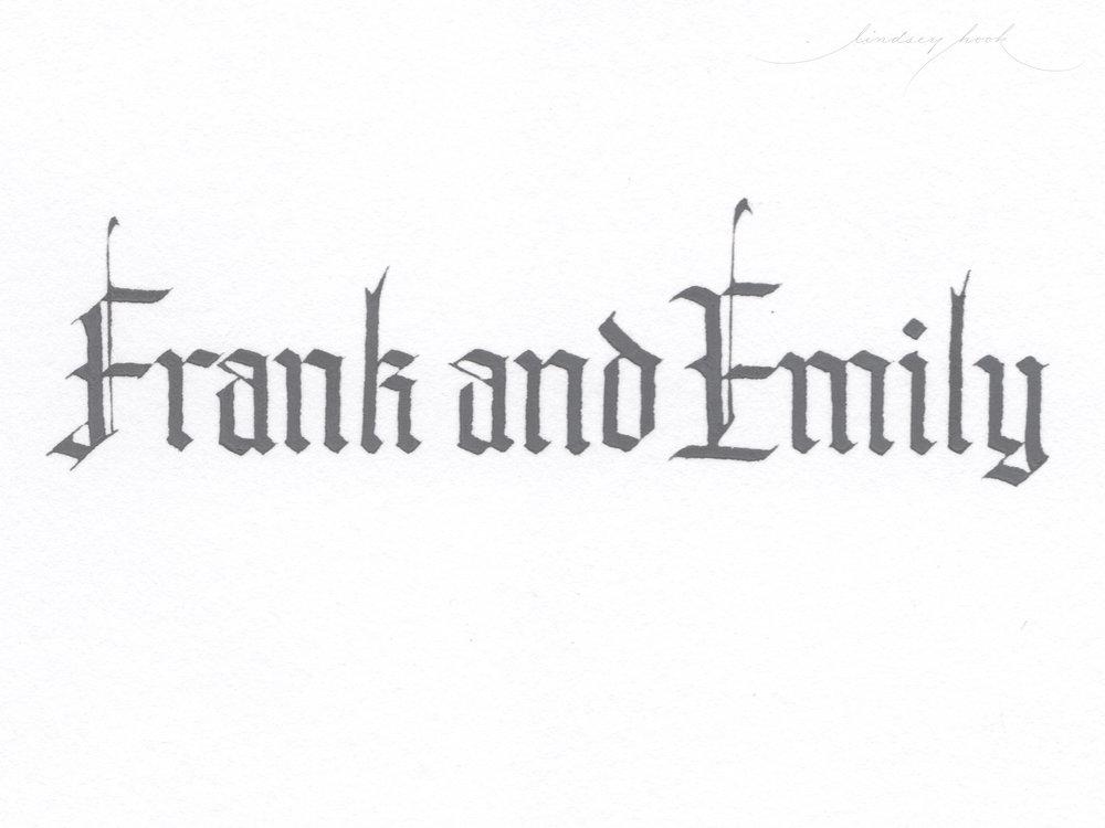 Blackletter Style Script