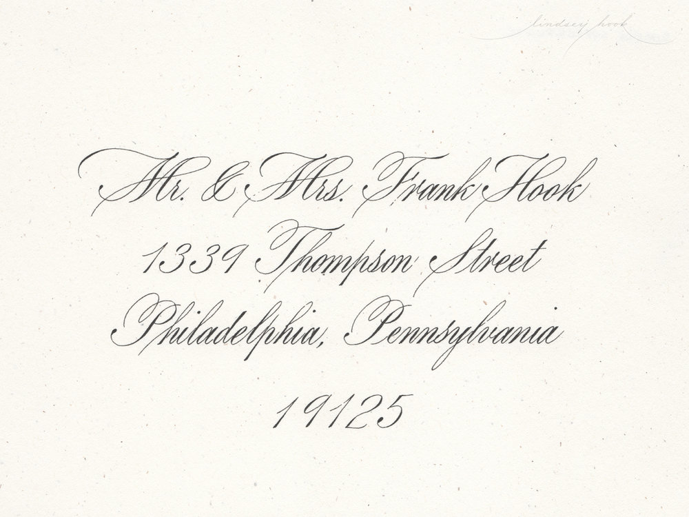 Simple Roundhand/Copperplate Script Envelope