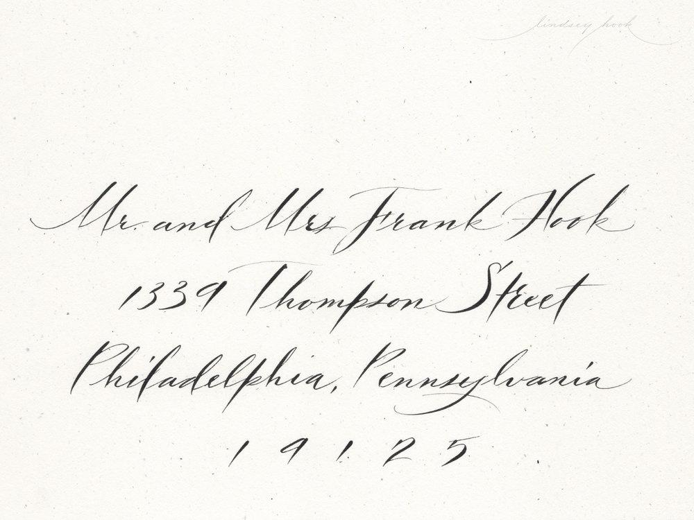 Modern Gestural Script Envelope