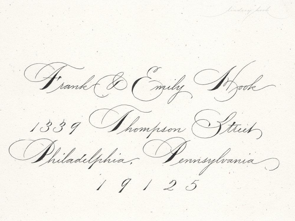 Spencerian Script Envelope