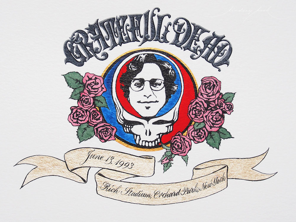 Grateful Dead Set List Header Detail