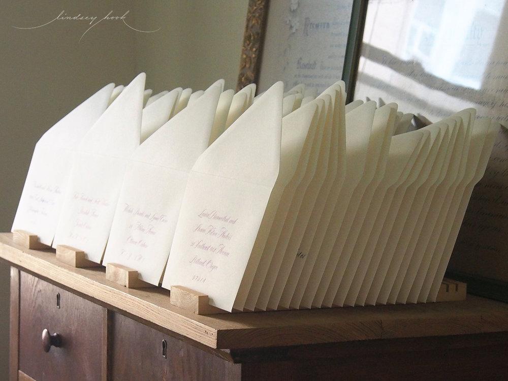 Unflourished Sloop Script Outer Envelopes