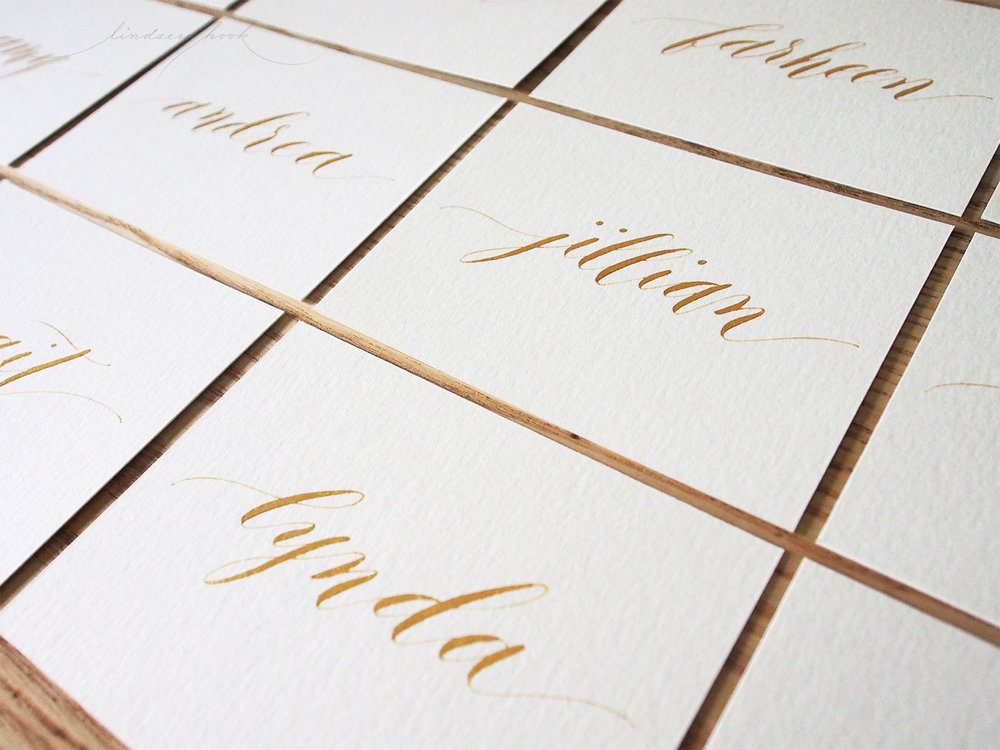 Modern Script Place Cards