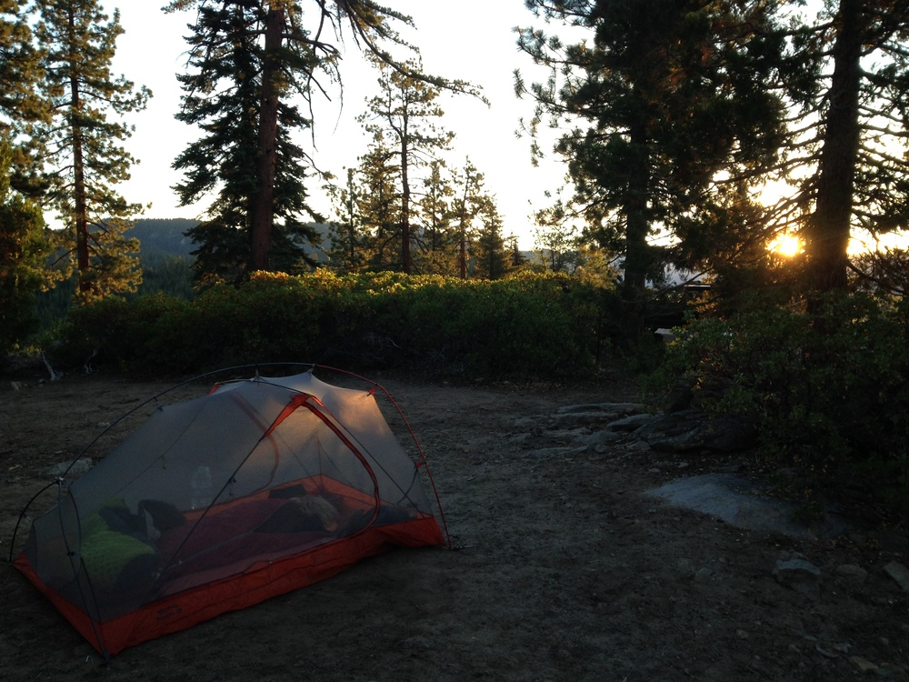 beautiful free camping in sequoia, near dome rock