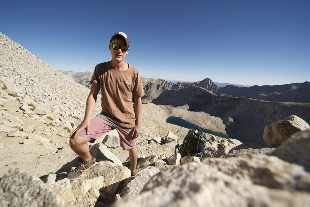 inadvertantly showing off my scarpa trail running shoes on top of forrester pass