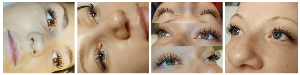 Eyelash Extensions | Group of Four Photos