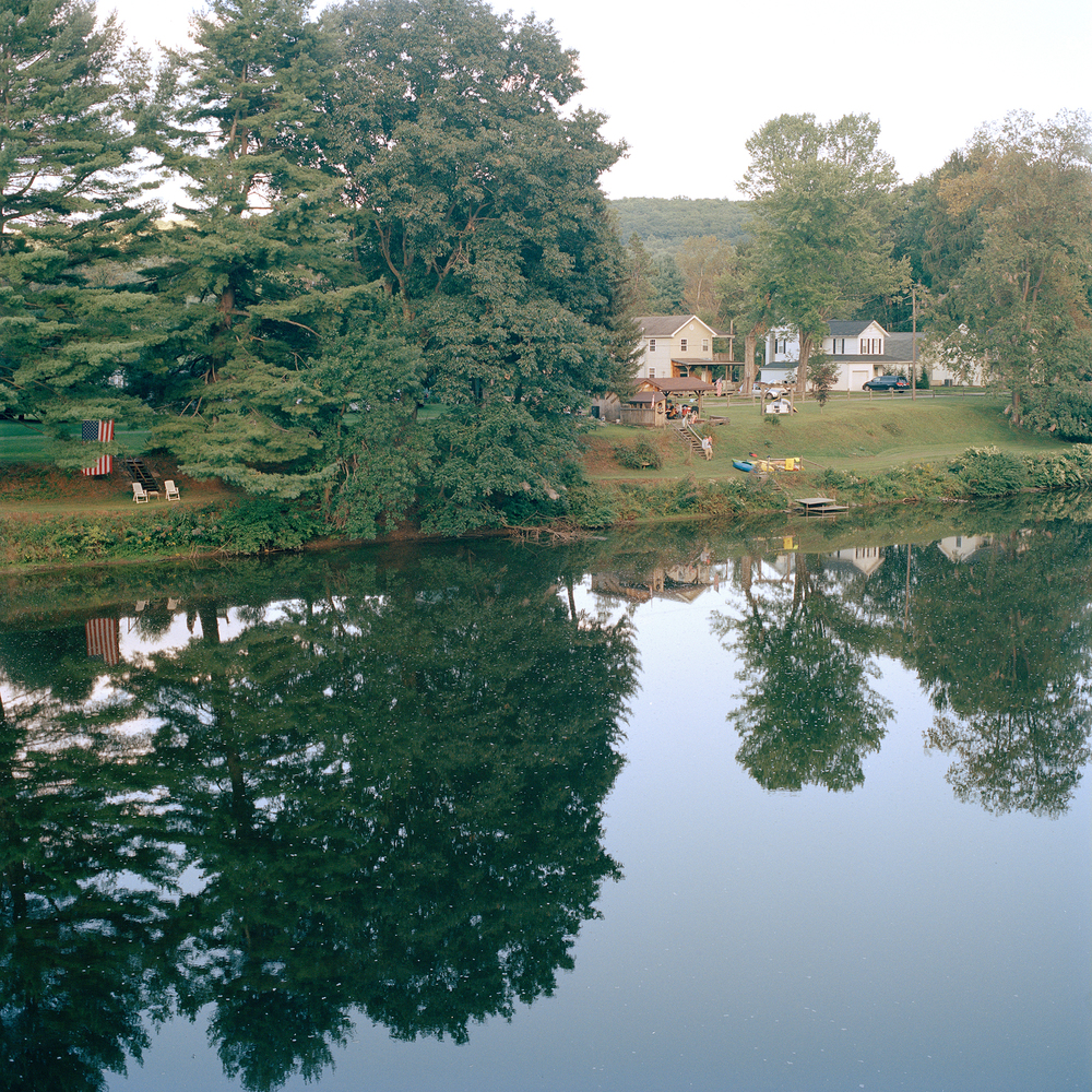 A home and surrounding property along the Clarion river in Clarington PA