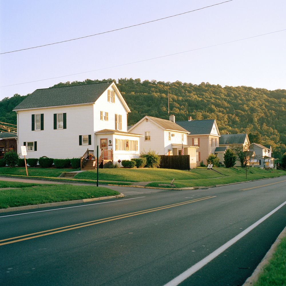 Homes along Broad street in South Bethlehem PA
