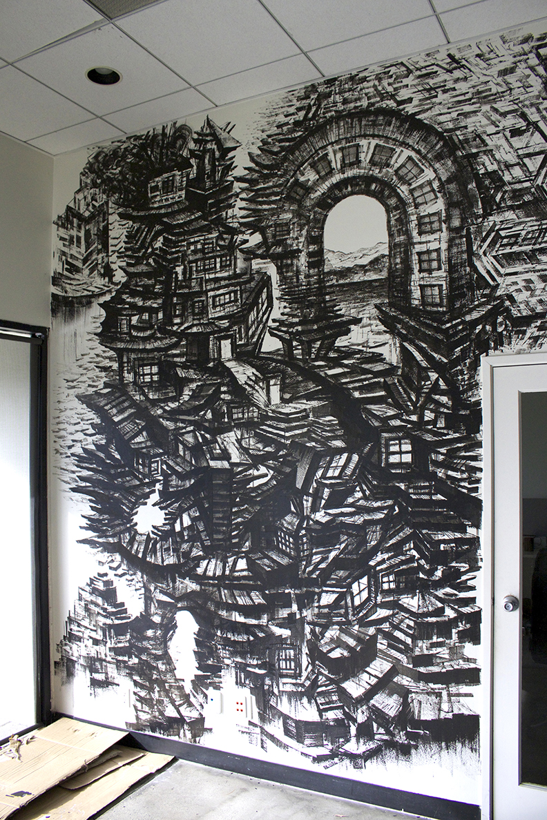 Interior Wall Art / Mural for Revel Offices in Santa Monica, CA