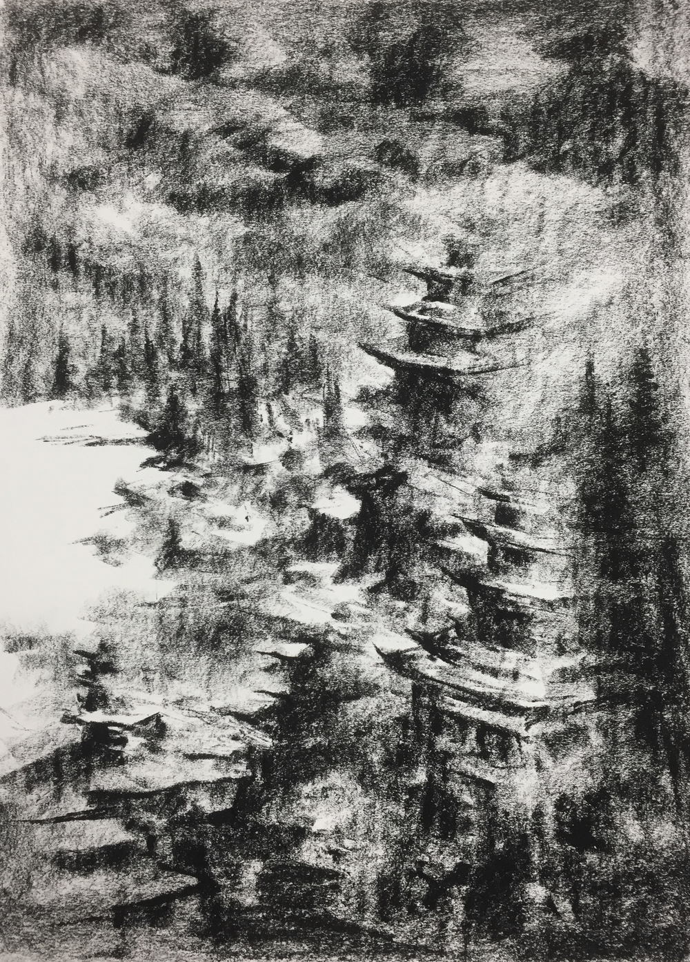 """Unititled"" - Charcoal on Paper 16 X 22 Inches"