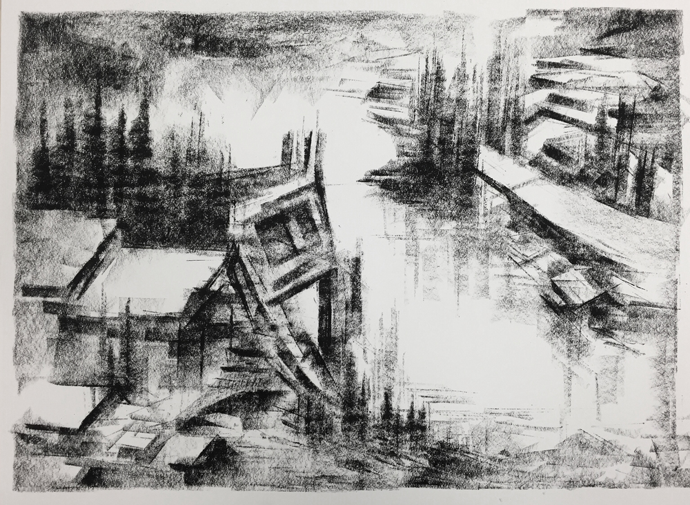 """Unititled"" - Charcoal on Paper 22 X 16 Inches"
