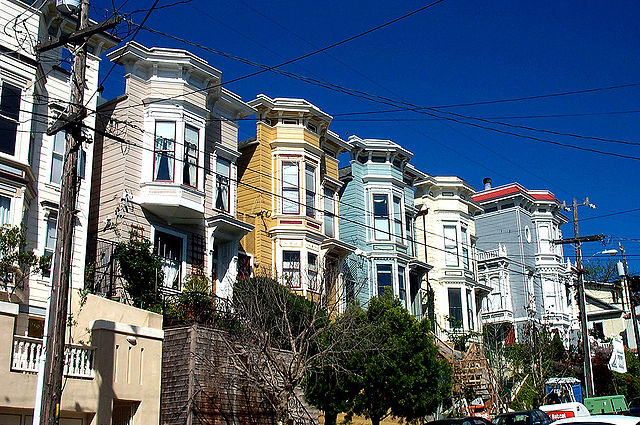 Victorian homes in Noe Valley. Image courtesy of Creative Commons, author Allan Ferguson