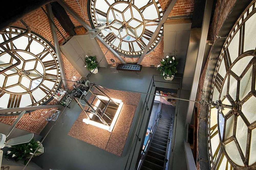 View of the inner workings of the clock from inside the iconic tower.