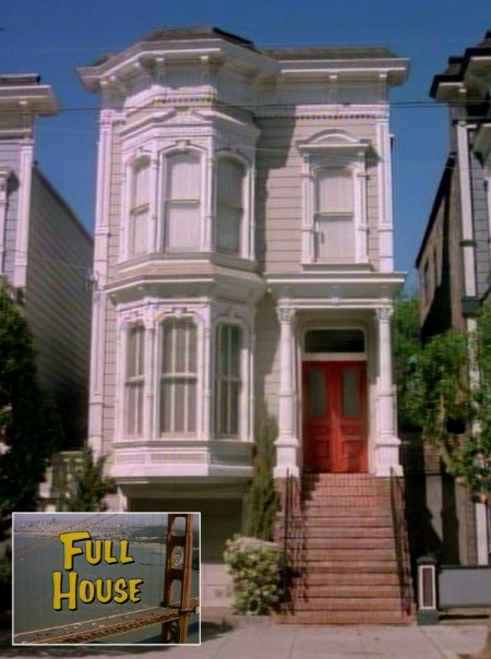The facade of 1709 Broderick Street was used in the TV show, Full House.