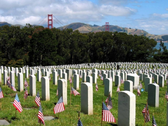 Memorial Day at the National Cemetery in the Presidio.