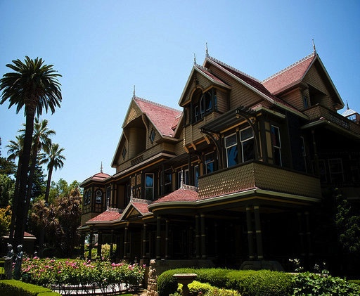 Winchester Mystery House - San Jose's Winchester Mystery House is one of the most haunted houses in the world. It's rumored to be home to a plethora of paranormal activity and frequent ghost sightings. Get in the Halloween spirit and visit this site for more haunted homes.