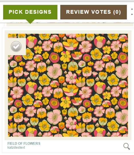 Filed Of Flowers Katz Designer Textiles