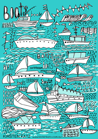 Boat Illustration - Kirsten Katz