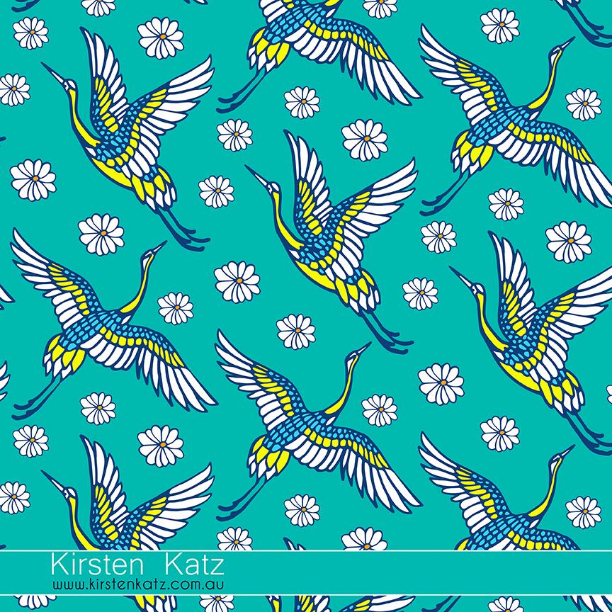 Japanese Garden Textile Design