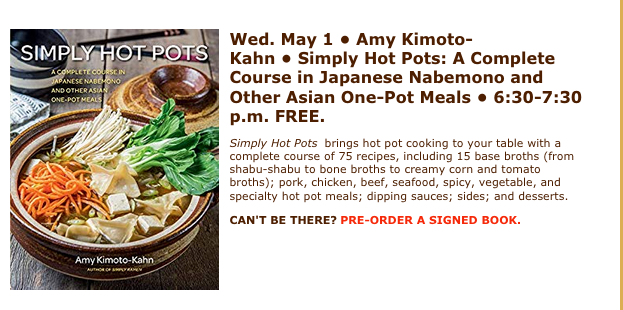 If you can't be there, you can order a pre-signed book here:   http://bit.ly/epjomnivore