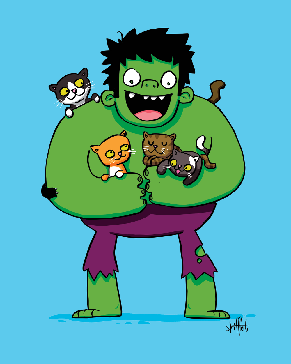 HULK LOVE KITTY!