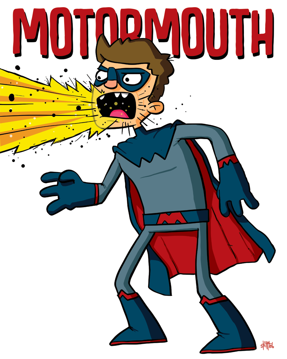 Motormouth. Superhero portrait