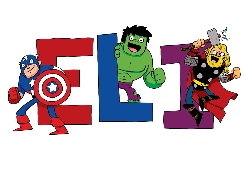 Eli. Avengers name plate
