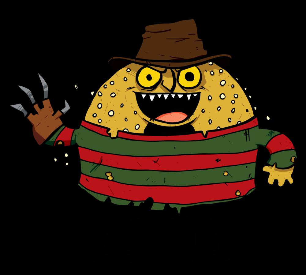 5 & Dime Bagel Halloween character