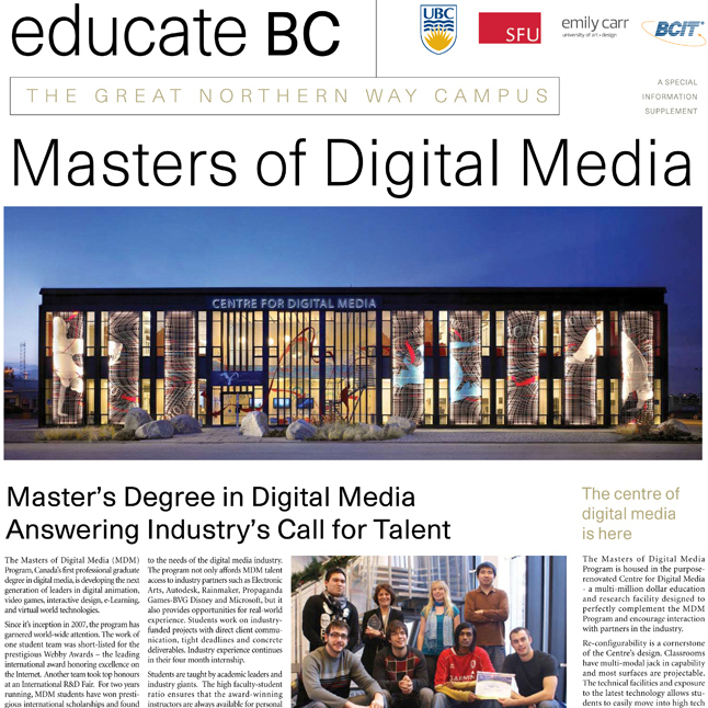 <a href=/education></a><strong>EDITORIAL – UBC & SFU PROGRAMS</strong>